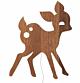 Ferm Living My Deer wandlamp-Gerookt eiken