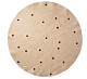 Ferm Living Black Dots vloerkleed-Ø 130 cm