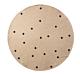 Ferm Living Black Dots vloerkleed-Ø 100 cm