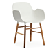 Normann Copenhagen stoel Form armchair noten-Wit