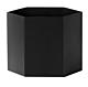 Ferm Living Hexagon Pot XL-Zwart