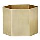 Ferm Living Hexagon Pot XL-Messing