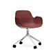 Normann Copenhagen Form Swivel bureaustoel aluminium onderstel-Red