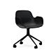 Normann Copenhagen Form Swivel bureaustoel zwart aluminium onderstel-Black