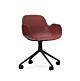 Normann Copenhagen Form Swivel bureaustoel zwart aluminium onderstel-Red