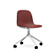Normann Copenhagen Form Swivel zonder arm bureaustoel aluminium onderstel-Red