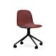 Normann Copenhagen Form Swivel zonder arm bureaustoel zwart onderstel-Red