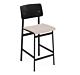 muuto Loft counterstoel gestoffeerd zwart onderstel-Clara 544