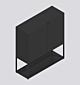 HAY New Order Comb. 201 kast-Charcoal-Met vloerveiligheidsbeugel