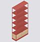 HAY New Order Comb. 601 kast-Red-Met vloerveiligheidsbeugel