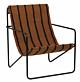 Ferm Living Desert zwart fauteuil-Stripe