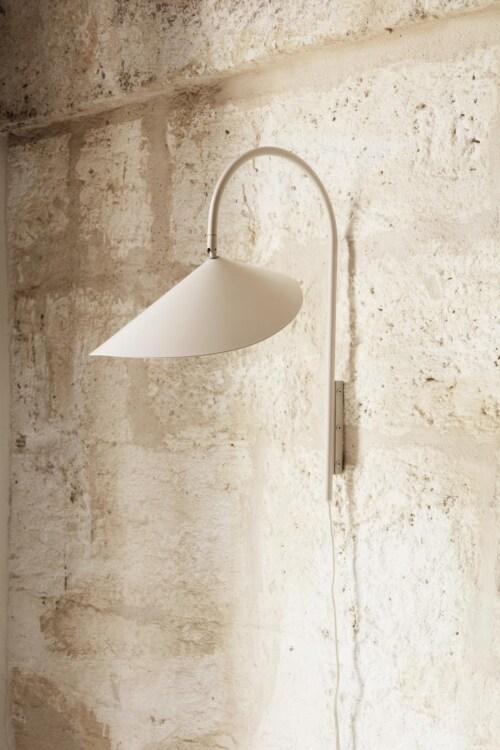 Ferm Living Arum kort wandlamp-Cashmere