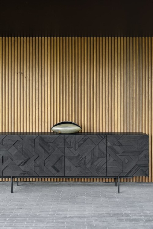 Ethnicraft Graphic teak dressoir-4 deurs