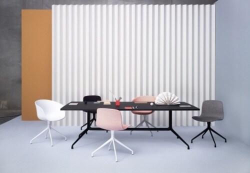 HAY About a Chair AAC10 aluminium onderstel stoel-Zwart
