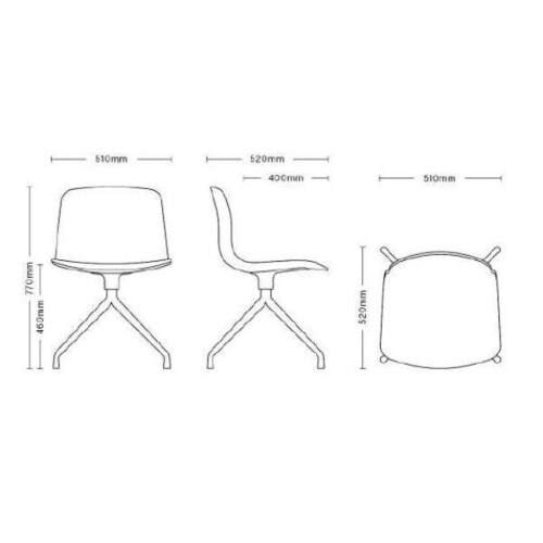 HAY About a Chair AAC10 aluminium onderstel stoel-Wit