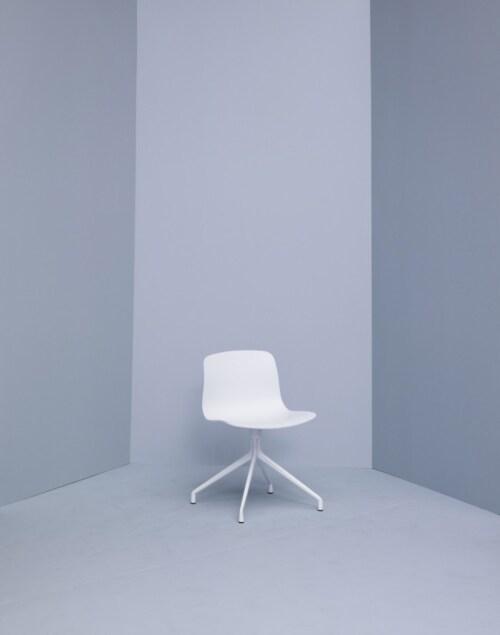 HAY About a Chair AAC10 wit onderstel stoel-Zwart