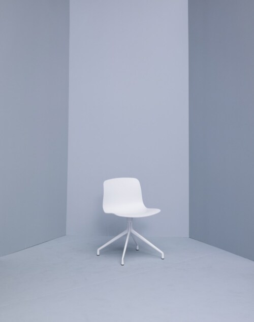 HAY About a Chair AAC10 wit onderstel stoel-Mosterd