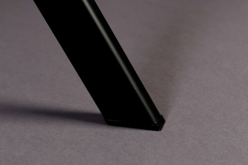 Dutchbone Franky Velvet stoel-Donker grijs
