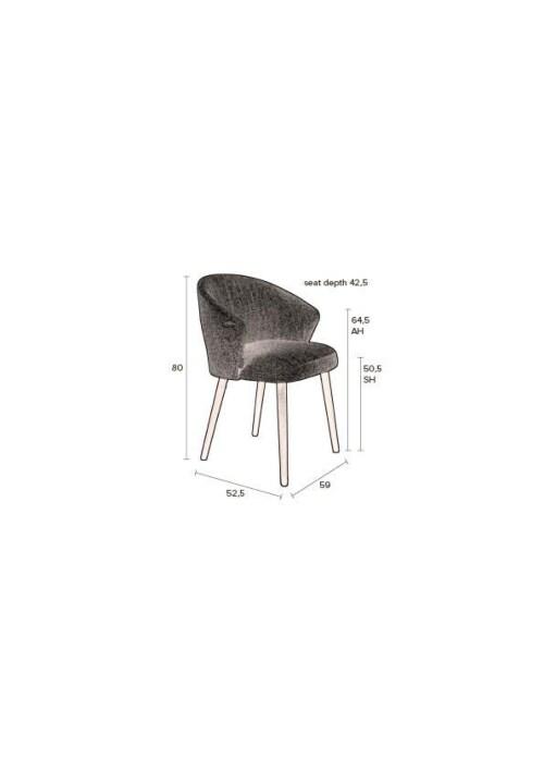 Dutchbone Waldo stoel-Anthracite