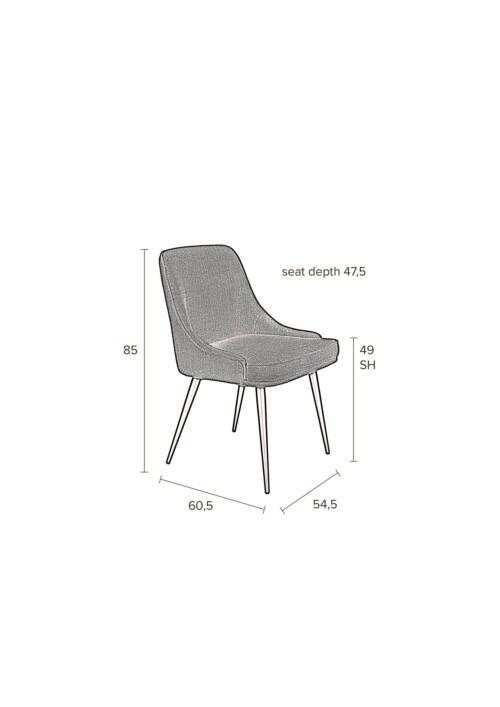 Dutchbone Magnus stoel-Blue