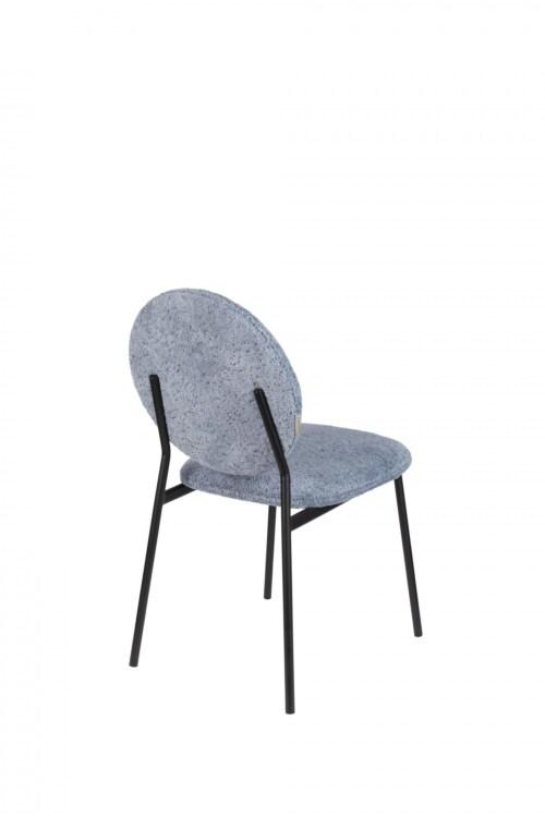 Zuiver Mist stoel-Grijs-blauw