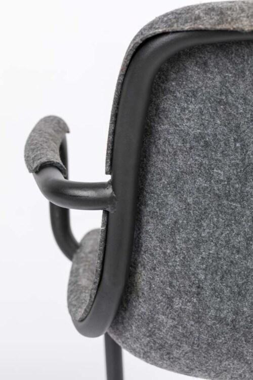 Zuiver Thirsty armstoel-Graphite grey
