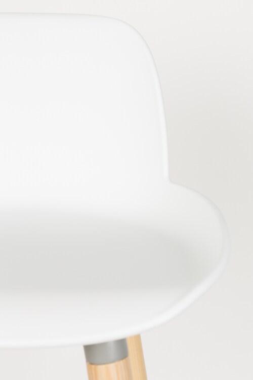 Zuiver Albert Kuip barkruk-Wit-Zithoogte 75 cm