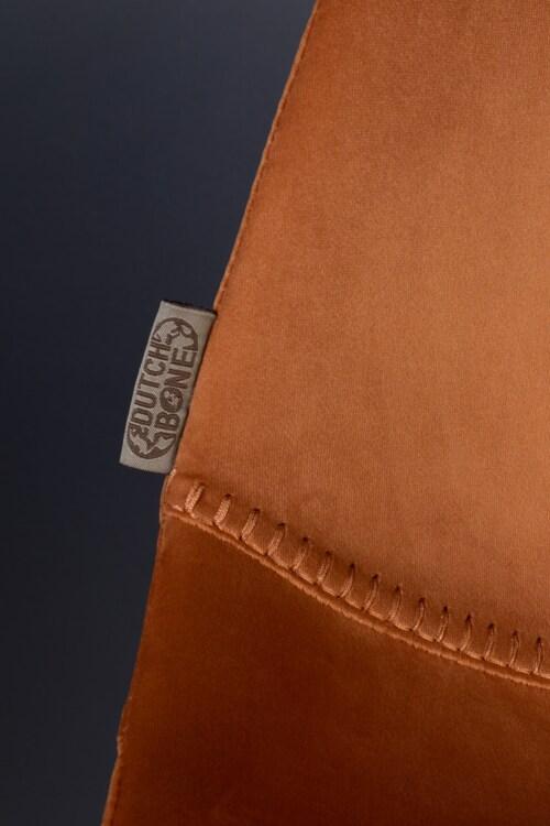 Dutchbone Franky Velvet stoel-Oranje