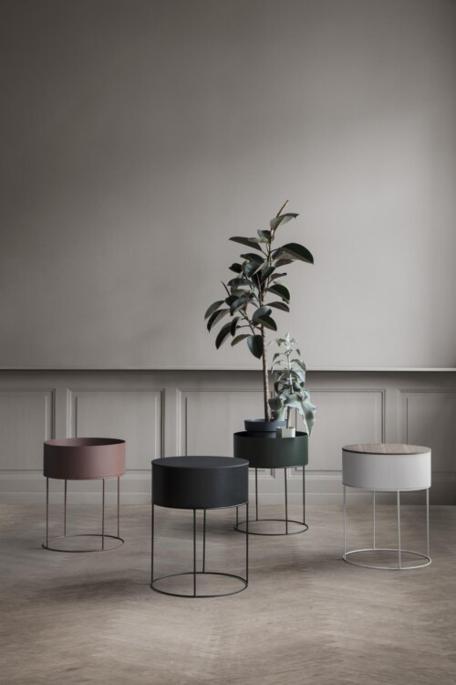 Ferm Living Plant Box rond plantenbak-Licht grijs