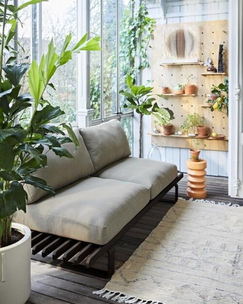 HKliving Aluminium Outdoor Lounge bank-Antraciet