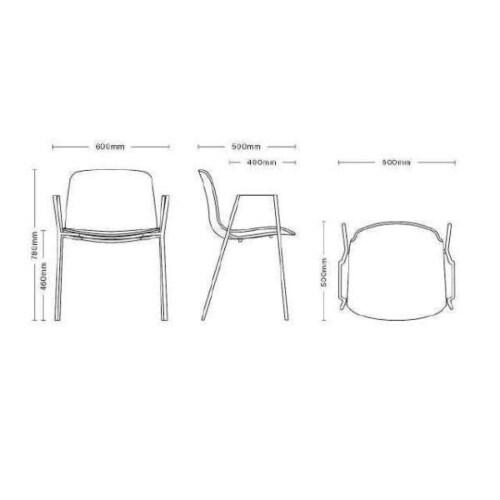 HAY About a Chair AAC18 zwart onderstel stoel-Khaki