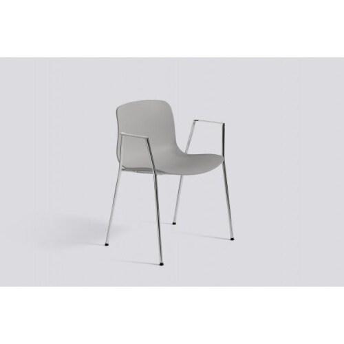HAY About a Chair AAC18 chroom onderstel stoel-Zwart
