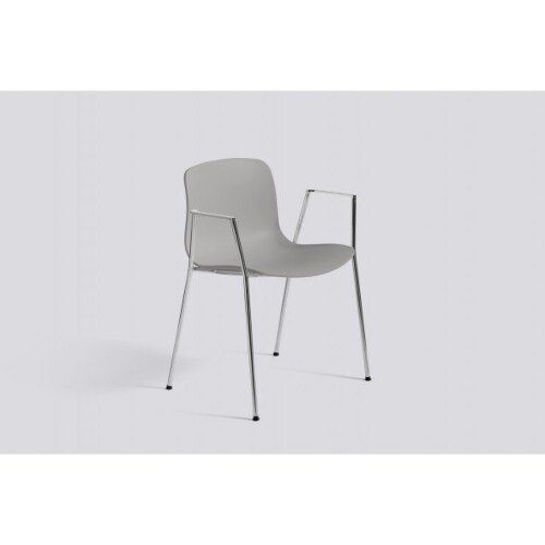 HAY About a Chair AAC18 chroom onderstel stoel-Licht grijs