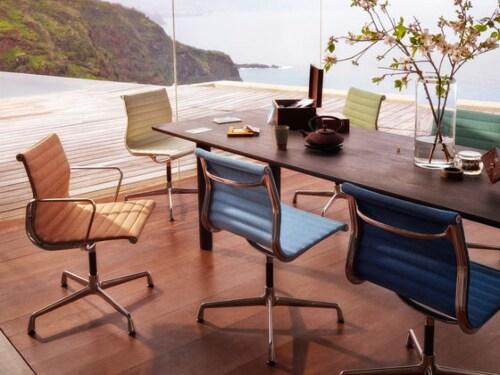 Vitra EA 105 stoel-Hopsak koraal/poppy rood