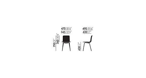 Vitra Hal Tube stoel verchroomd onderstel-Wit