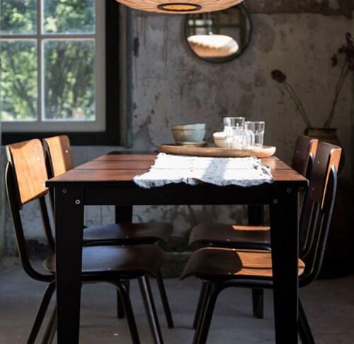 Dutchbone Scuola tafel-70x70x76 cm