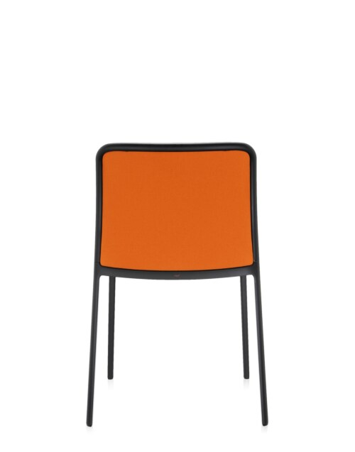Kartell Audrey Soft zwart stoel-Oranje-Zonder armleuning