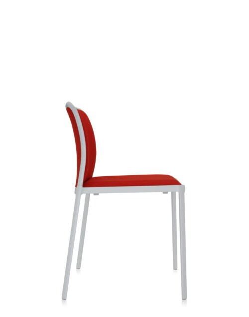 Kartell Audrey Soft wit stoel-Wit-rood-Zonder armleuning