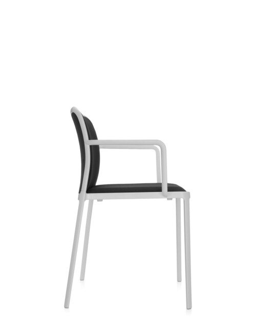 Kartell Audrey Soft wit stoel-Wit-zwart-Met armleuning