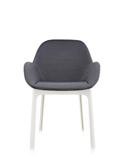 Kartell Clap stoel-Donker grijs-Wit