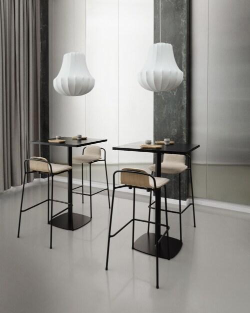 Normann Copenhagen Studio barkruk-Light grey-Zithoogte 65 cm