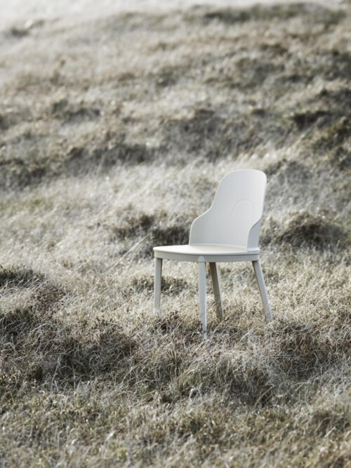 Normann Copenhagen Allez leren stoel-Warm Grey