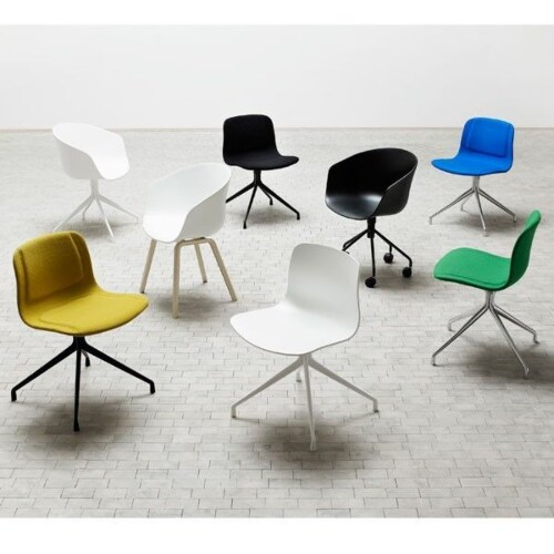 HAY About a Chair AAC20 chroom onderstel stoel-Licht grijs