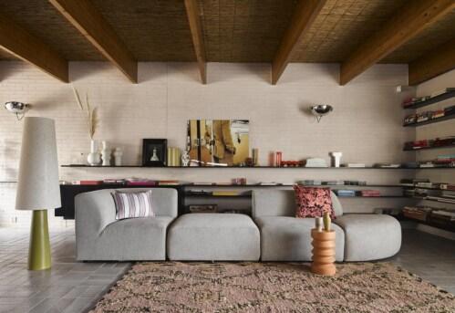 HKliving Hand Knotted Woolen Berber vloerkleed-180x280 cm
