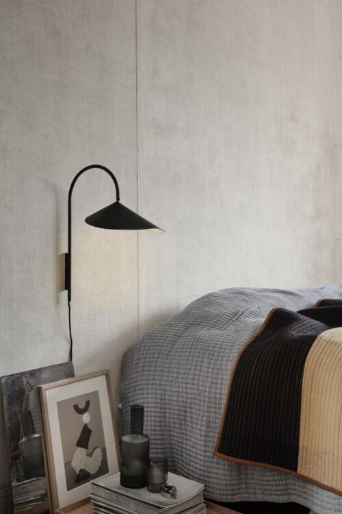 Ferm Living Arum kort wandlamp-Black