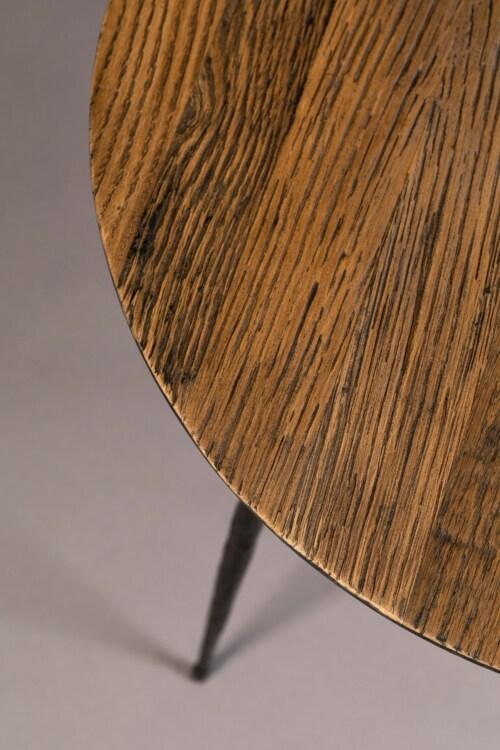 Dutchbone Pepper bijzettafel-Brown-45x40 cm (ØxH)