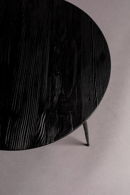 Dutchbone Pepper bijzettafel-Black-45x40 cm (ØxH)