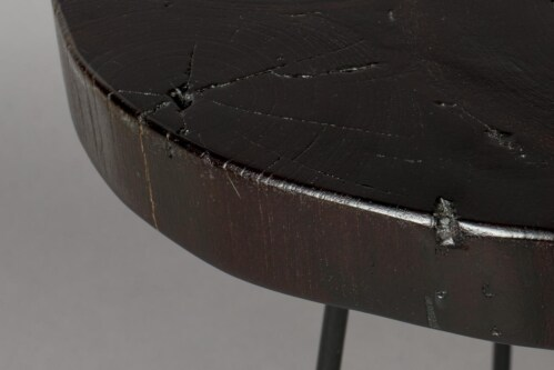 Dutchbone Kraton Chocolate Black bijzettafel