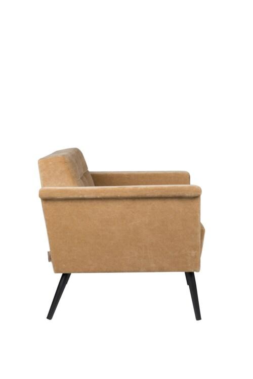 Dutchbone Sir William Lounge fauteuil -Vintage Kameel