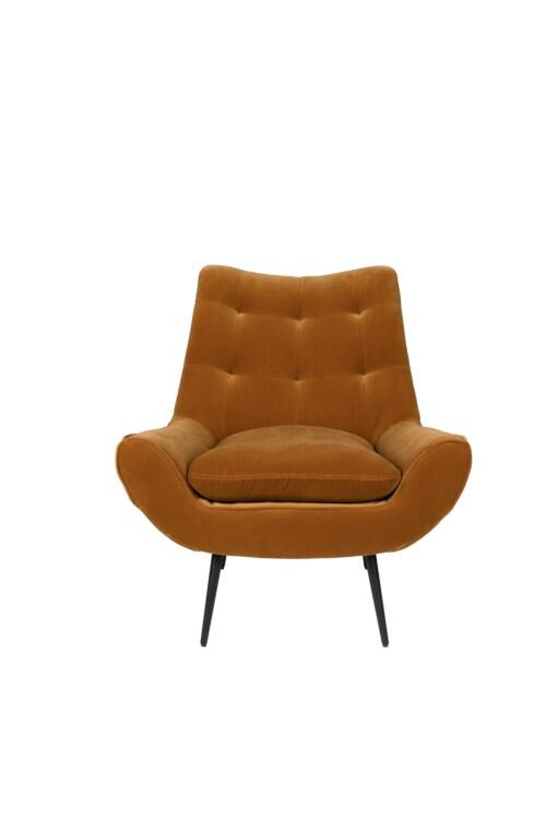 Dutchbone Glodis Lounge Chair-Whiskey